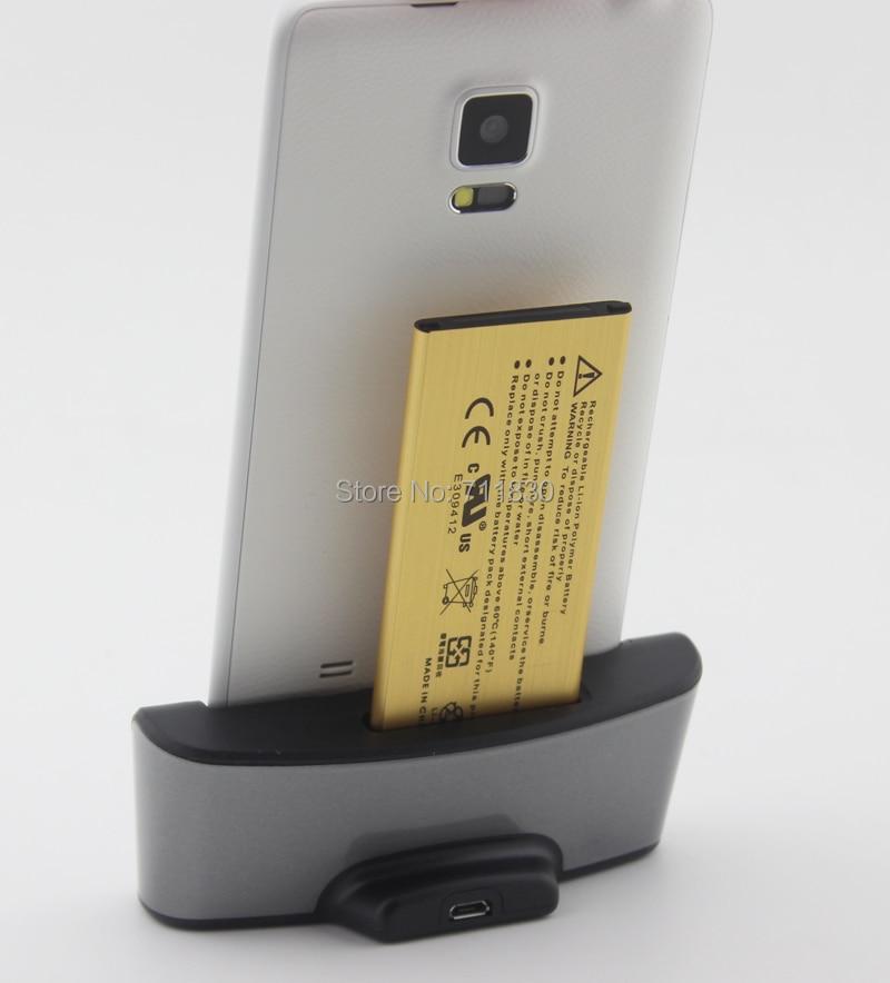 Black Note 4 Battery Charger Data Sync Desktop Dual Cradle Dock For Samsung Galaxy Note 4 IV N910 SM-N910W8 SM-N910C N910F N9100