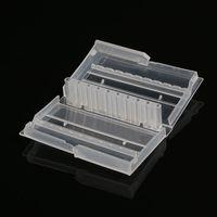 10 furos prego broca caso plástico vazio caixa de armazenamento fresas titular