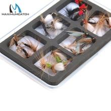 Maximumcatch 2Pcs Transparent Waterproof Fly Fishing Boxes Small Size Flies Hook Holders Slim Plastic Fly Box