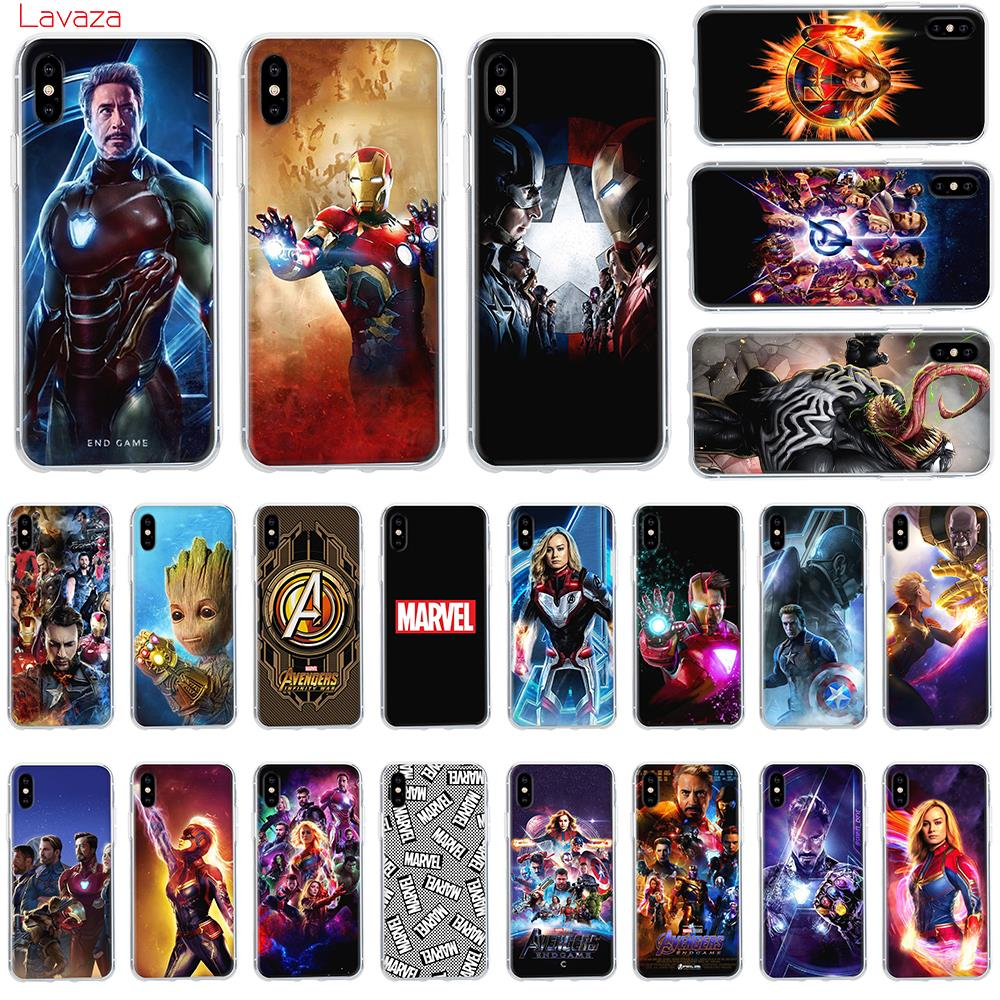 Lavaza Marvel MCU Avengers Endgame Hard Phone Case for Apple iPhone 6 6s 7 8 Plus X 5 5S SE for iPhone XS Max XR Cover marvel glass iphone case