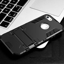 df7a4a9dcf8 For Case Apple iphone SE Case Rubber + Plastic WolfRule Anti-knock Case For  Apple iPhone SE Cover For iphone 5S SE 5C Funda <