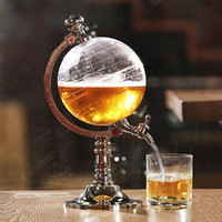 Special Unique Design 1000cc Globe Shaped Beverage Liquor Dispenser Drink Wine Beer Pump Decanter Tap Home Night Club Beer Tool