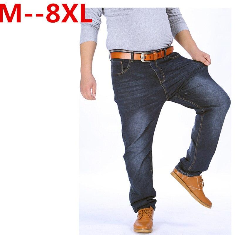 2017 nouvelle Haute Stretch Plus La Taille 9XL 8XL 7XL 6XL 5XL Jeans Noir Denim Affaires Jean Daffaires Travail Pantalon ...