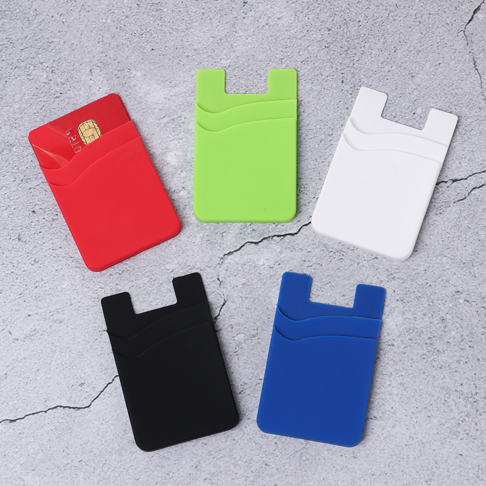 1Pcs 2020 Unisex Silicone Elastic Stick Adhesive Card Pocket Mobile Phone Back Card Holder Wallet Case Universal Cash ID Soft