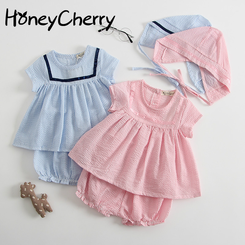 New Girls Clothing Sets Pink Suit Dress 1-3 Year Old Baby Coat In The Summer Of 2018 Girls Clothes  Girl Summer Clothes Set azel elegant latest new child dress for 2 3 year old girls vestidos fashion summer kid clothing little girls daily clothes 2017
