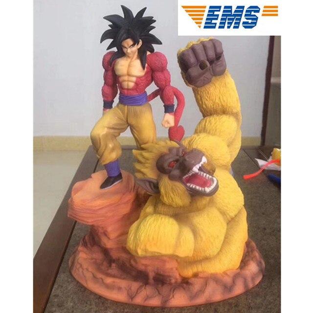 Dessin animé Dragon ball Z Statue Super Saiyaman 4 Goku or géant singes pleine longueur Portrait GK Action Figure Collection modèle jouet