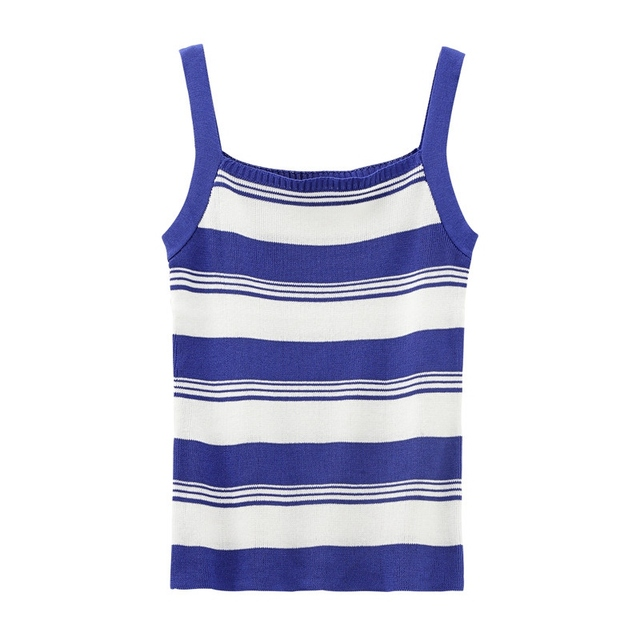 03ca7a9e842 2018 Fashion Holiday Slim Basic Camisole Color Block Stripe Cami Top Casual Ribbed  Camisole Women Sexy