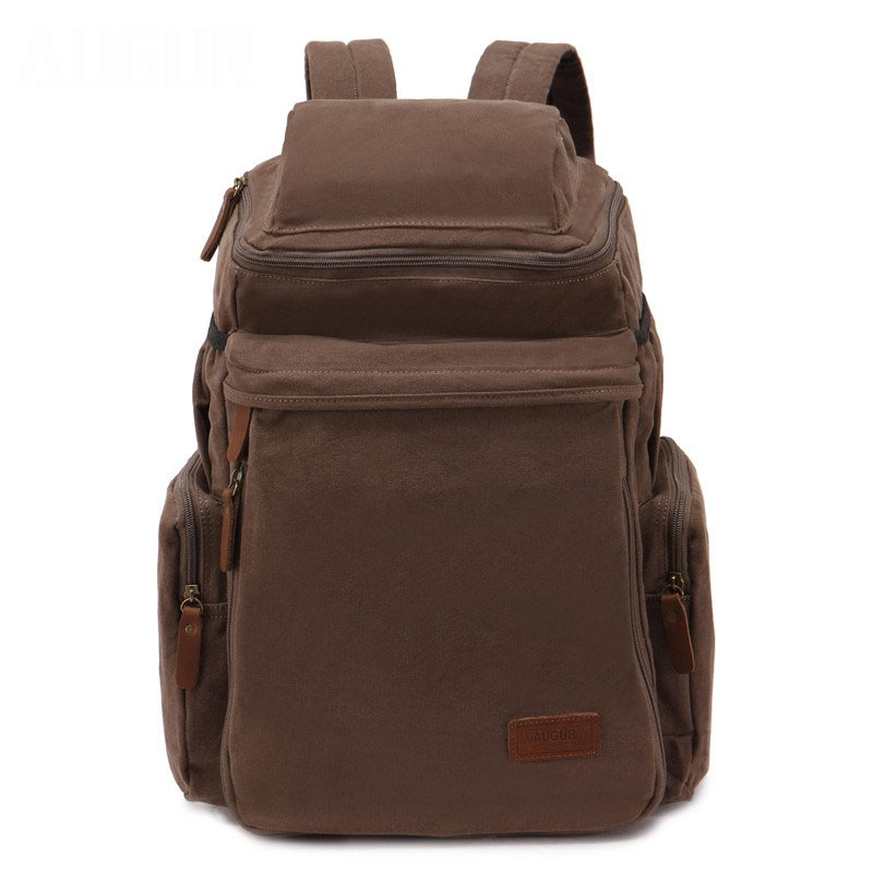 Augur Large Capacity Canvas Laptop Backpack Men 19Inch Notebook Portable Student Rucksack Women Casual Army Green Shoulders Bag augur oxford 17inch laptop men backpack large capacity student school bag for college patchwork business trip men rucksack