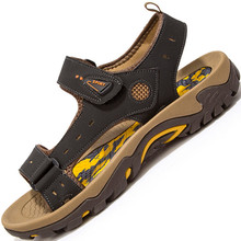 Non Slip Rubber Sole New Men's Shoes Summer 2016 Breathable Casual Platform Sandals Men Outdoor Beach Sandal Boys