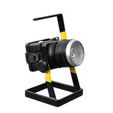 Dropshipping T6LED Floodlight Rotating Zoom Lamp Rechargeable Projection Lamp With Holder Newest(China)
