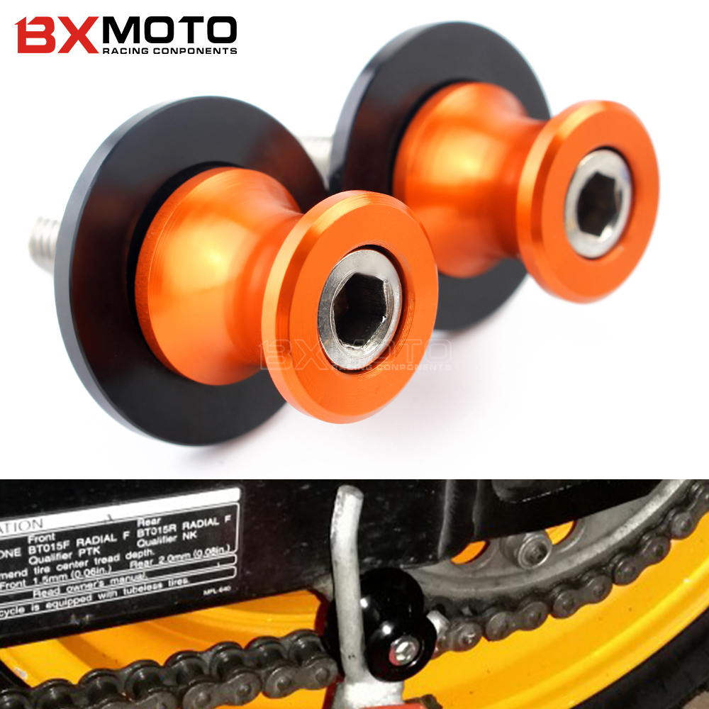 Motorcycle CNC Aluminum Swingarm Spools slider stand Screws accessories for kawasaki Z750 Z1000SX VERSYS NINJA 1000 250 300 650 motorcycle accessories cnc aluminum black swingarm spools slider stand screws for ktm 950 smr supermoto r 2008 orange 950 sm s