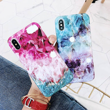 Glitter Marble Case For iPhone X XR XS MAX 7 8 6 6S Plus 11 Pro Max Soft Silicone TPU Shell Pattern Back Cover Phone Cases Coque