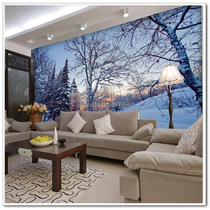 Beibehang Large Wallpaper Mural Custom Any Size Three: Beibehang Beautiful Snow Custom 3d Mural Wall Paper Large