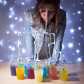 Free Shipping 1Piece DIY Connectable Party Drinking Straws Sucking Straws Tubes Puzzle For Kid Fun Party Drinking Game