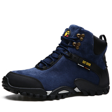 цена 2019 Brand Winter Fur Warm Snow Boots For Men Sneakers Male Shoes Adult Non Slip Rubber Casual Work Safety Unisex Ankle Boots онлайн в 2017 году