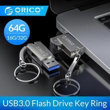 ORICO 3.0 USB Flash Drive 64GB 32GB 16GB USB 3.0 Metal Flash Memory USB Stick With Key Ring Storage Flash Disk Flash Drive флешк usb flash накопитель с мультфильмами proffi films pfm007