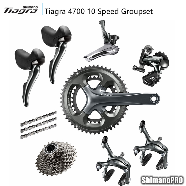US $335 0 |Shimano Tiagra 4700 2x10 Speed 10s Groupset road bike bicycle  groupset Bicycle Parts-in Bicycle Crank & Chainwheel from Sports &