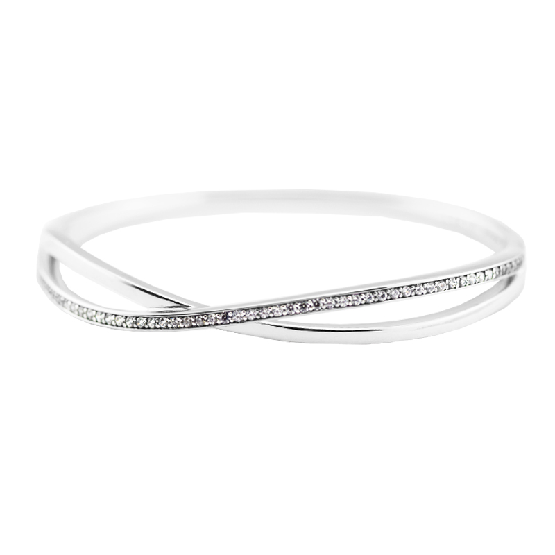 Entwined Bangles 100% 925 Sterling Silver Fine Jewelry For Women Wholesales Free ShippingEntwined Bangles 100% 925 Sterling Silver Fine Jewelry For Women Wholesales Free Shipping