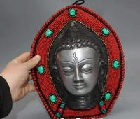 Antique Collection Nepalese Backflow Buddha Boards and Ancient Items Tathagata Buddha Statue Sculpture