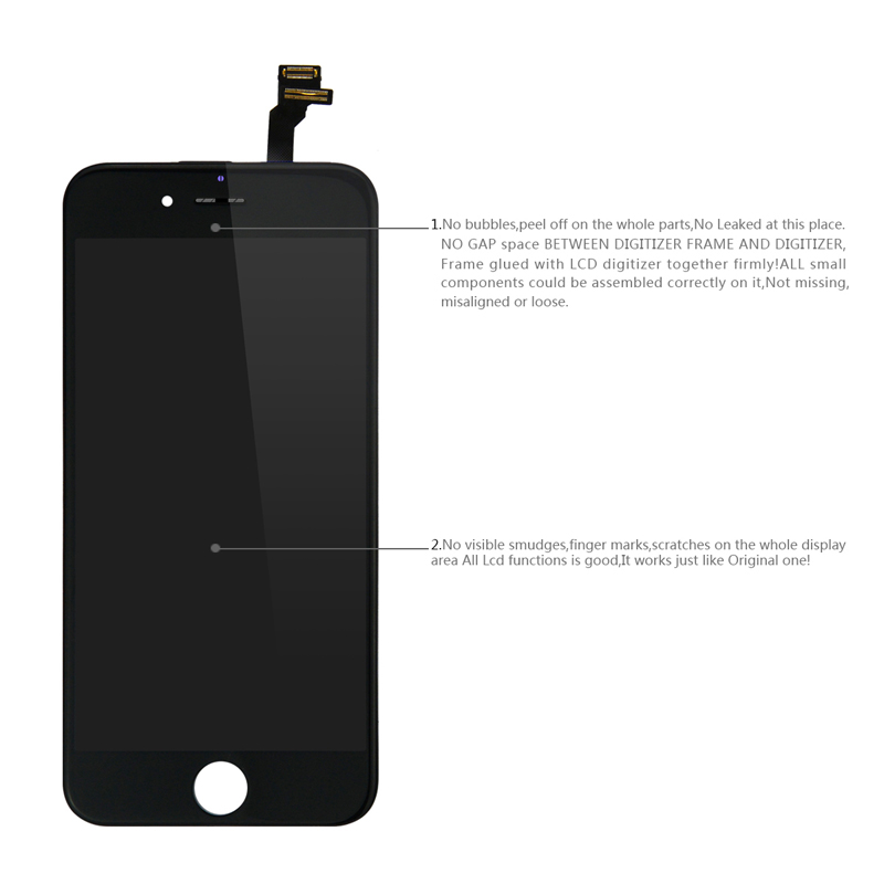 100% No Dead Pixel LCD For iPhone 6 6s 7 8 7 Plus OEM Display 3D Touch Digitizer Pre-assembled White Black+Tools Tempered Glass