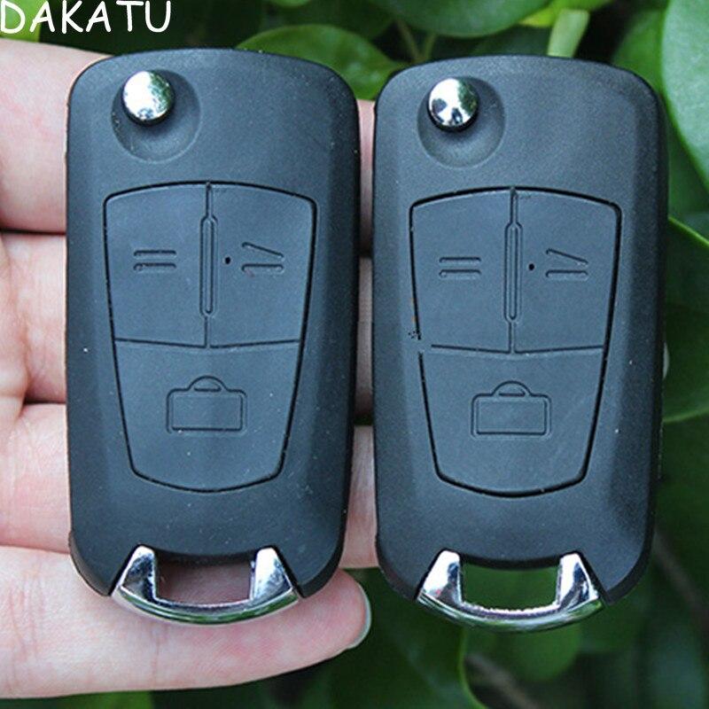 DAKATU With LOGO Replacement 3 Button Flip Folding Modified Key Shell HU100 HU43 YM28 HU46 for