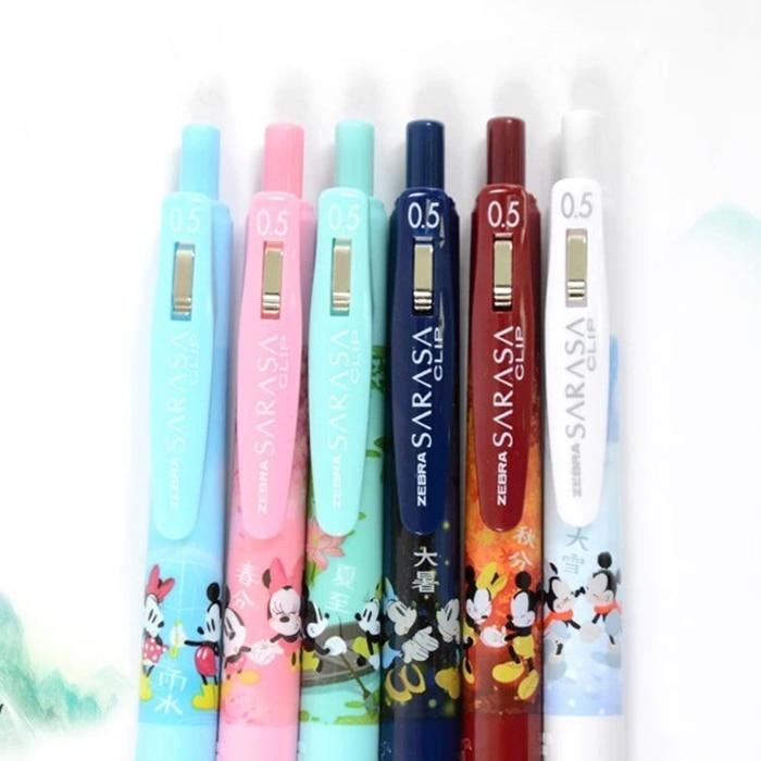 Image 2 - 4pcs/set Limited Edition Zebra SARASA JJ15 Chinese Seasons cartoon Gel Pen 0.5mm Kawaii Neutral Pen School Supplies-in Gel Pens from Office & School Supplies