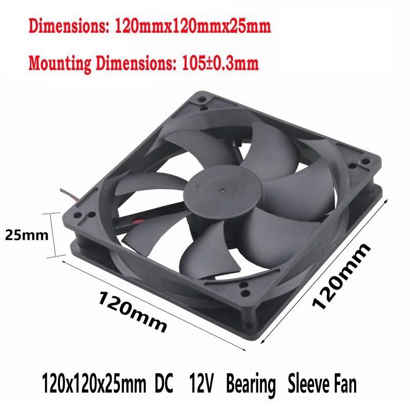 100 pcs Gdstime 4Pin 12cm 120x120x25mm 5 inches 12V DC Computer Case Cooling Fan 120mm x 25mm PC Radiator