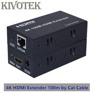 Image 1 - 4K x 2K Bộ Kéo Dài HDMI Phát + Receiver100m 1080P CAT5E6 Cáp Mạng UTP Cắm Bộ, cho HDTV PC Video Miễn Phí Vận Chuyển