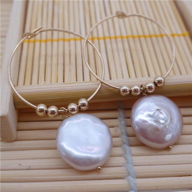 Eternal parola Regalo di cerimonia nuziale Delle Donne 925 Sterling Silver reale La perla naturale orecchini a forma di piatto grande Perla Viola grande orecchio - 4