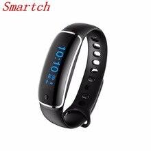 Smartch Новинка 2017 года V8 Bluetooth Smart Браслет сердечного ритма Смарт Браслет Приборы для измерения артериального давления IP67 Водонепроницаемый браслеты для iOS и Android Сяо
