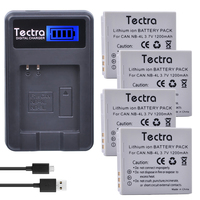 Tectra 4Pcs NB 4L NB4L Bateria LCD USB Charger For Canon PowerShot SD40 SD30 SD200 SD300