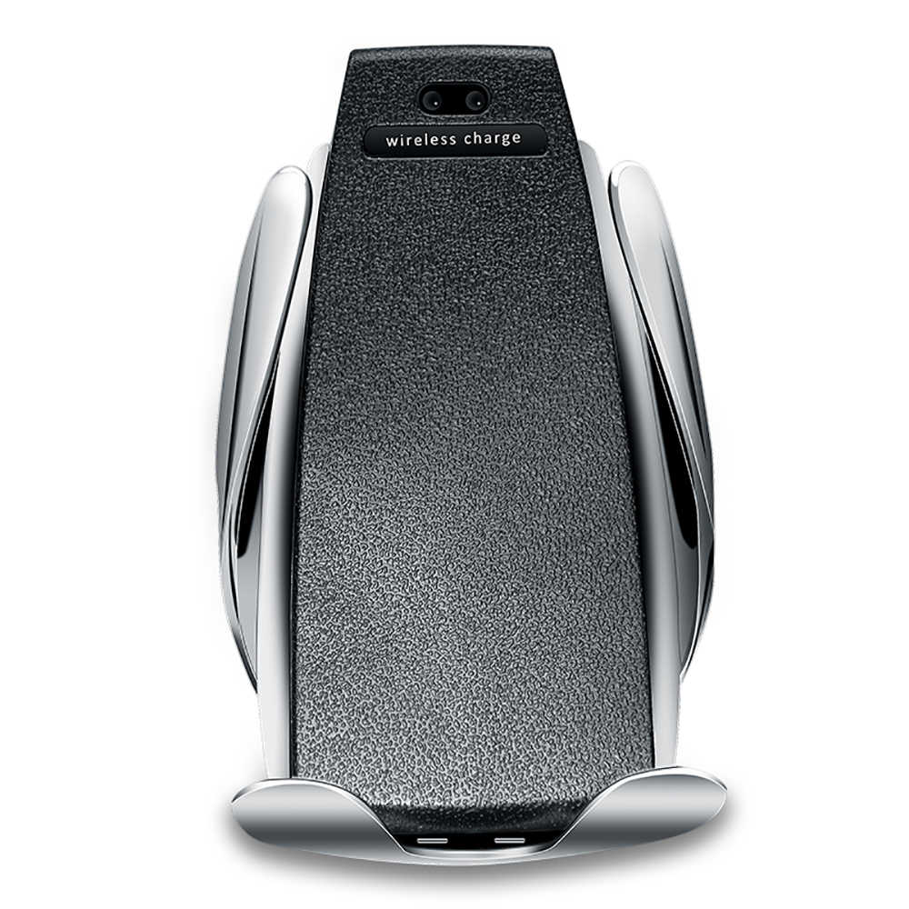 Qi 10W Wireless Charger Mobil S5 Otomatis Menjepit Cepat Pengisian Ponsel Pemegang Mount untuk iPhone 8 X XR XS huawei Samsung LG Dll