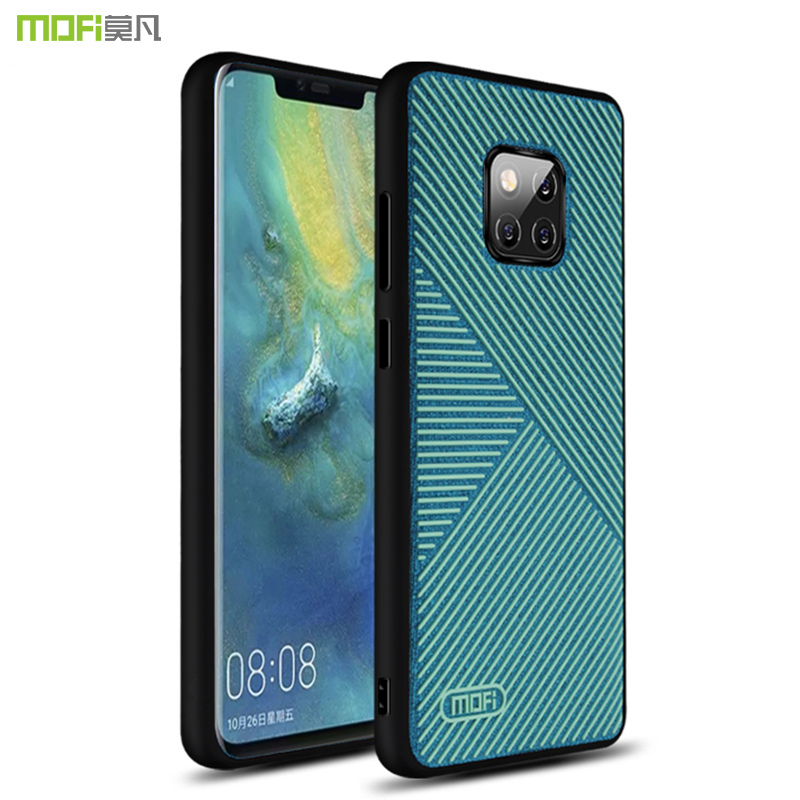 For Huawei Mate 20 Pro Case Cover MOFI Huawei Mate 20 Silicone Stripe Back Cover Case Mate 20pro Antiskid Epoxy Full Cover Case