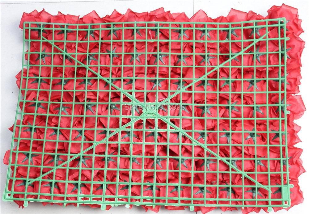 SPR EMS Spedizione gratuita ROSSO 60 * 40cm Seta artificiale rosa - Per vacanze e feste