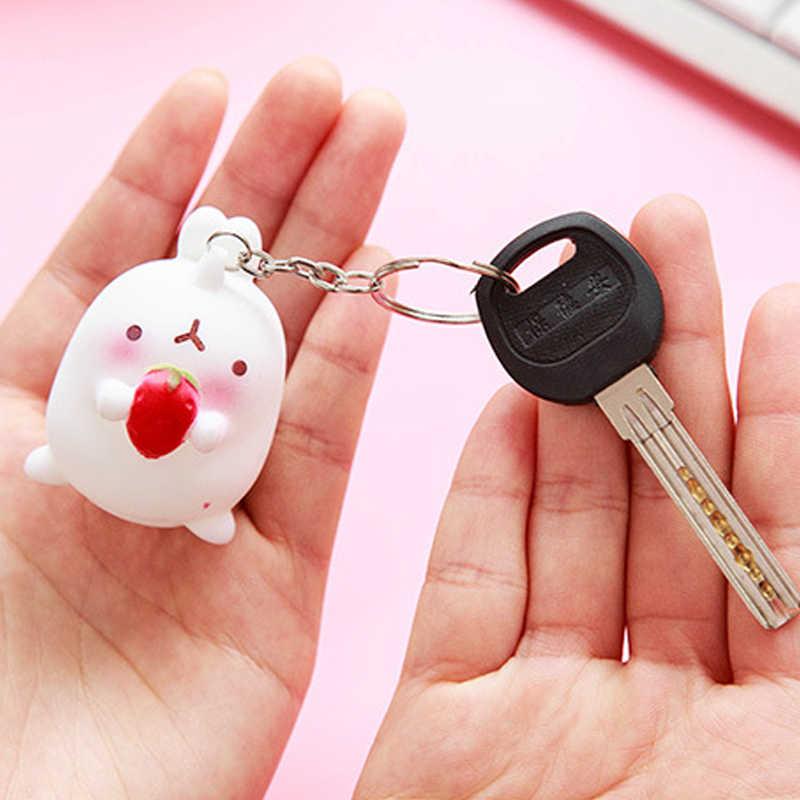 LNRRABC Moda Mulheres Senhora Chaveiro New Charme Otato Pingente Coelho Adorável Coelho Chaveiro Keyfob Chaveiro Decoração Do Carro