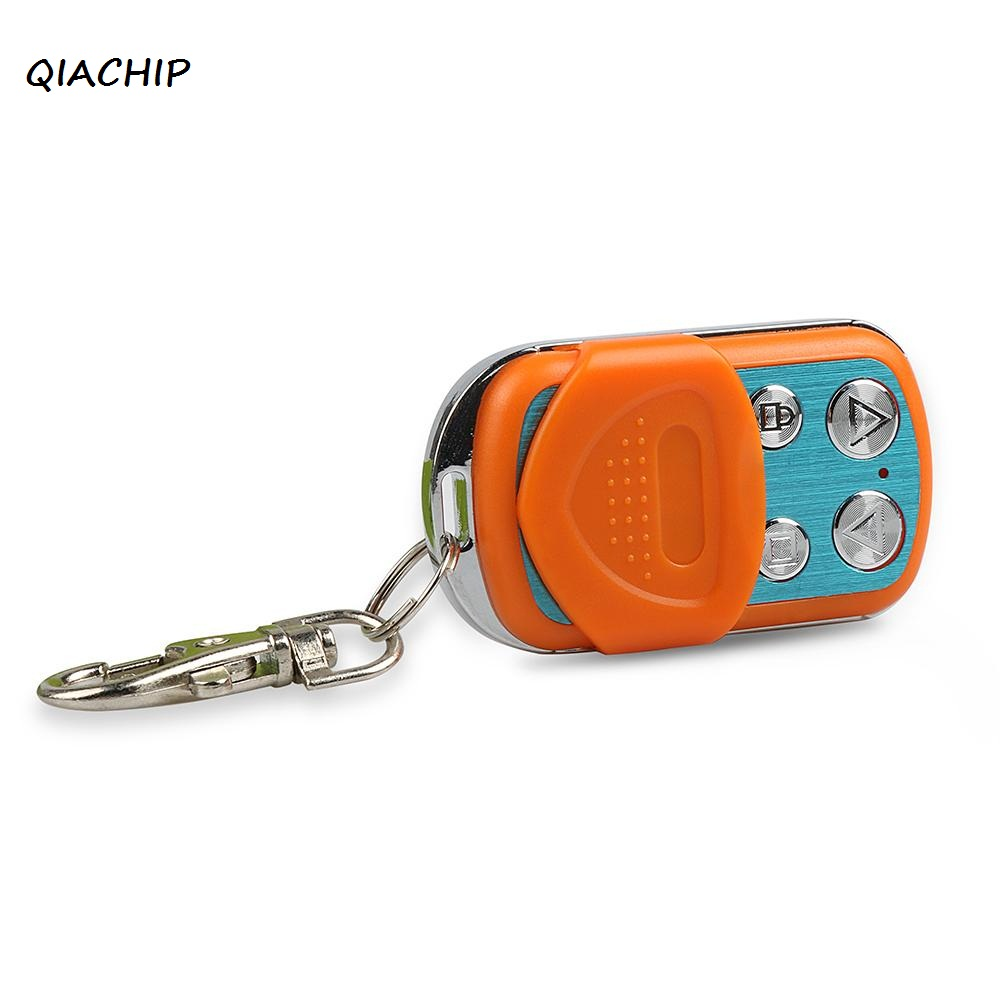 QIACHIP 433MHz RF Wireless Remote Control Copy Code Electric Cloning Duplicator Key Fob Learning Garage Door Switches Controller chunghop rm l7 multifunctional learning remote control silver
