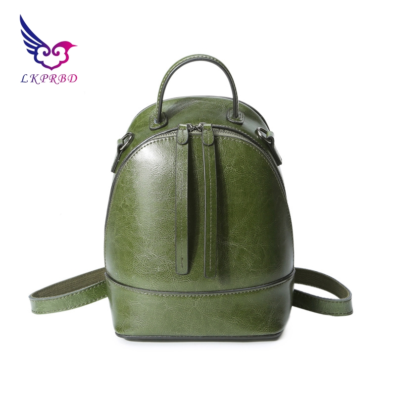 leather new women's bag popular fashion in Europe and the United States, women's Backpacks bag, oil, wax and leather bags. new europe and the united states fashion oil wax head layer of leather portable retro shoulder bag heart shaped color embossed h
