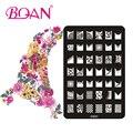 Бесплатная Доставка BQAN 1 шт. 42 Различных Небольшой Площади Нержавеющей Стали Штамповка Лак Для Ногтей
