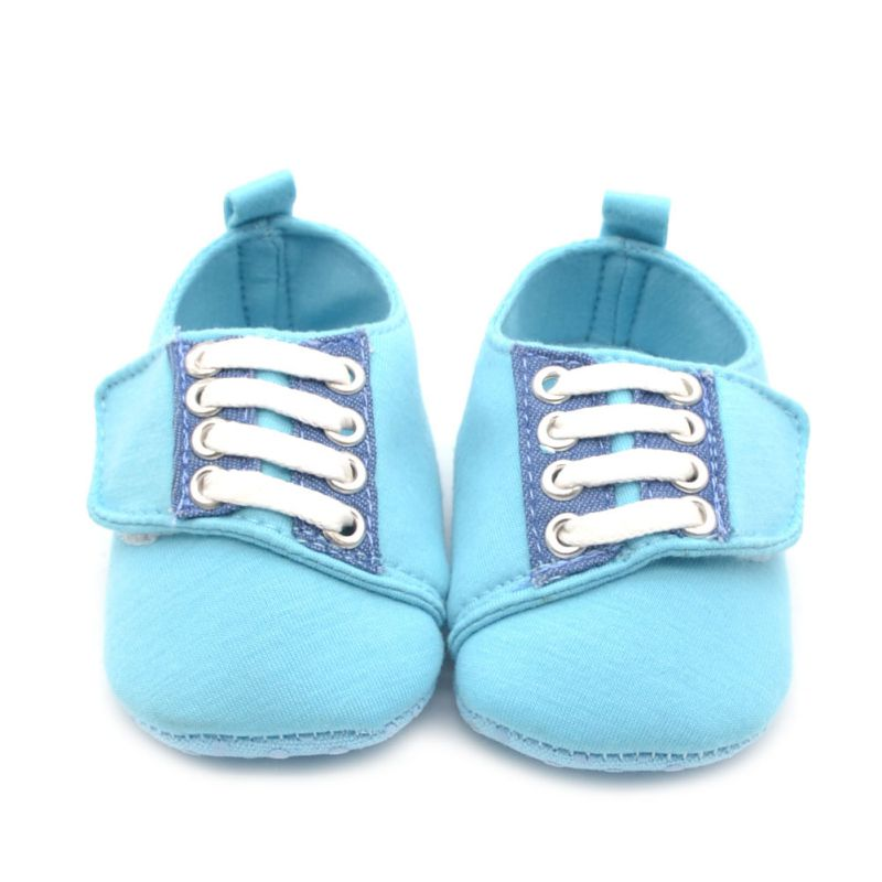 Baby Boy Crib Shoes Soft Sole Lace-Up Casual Non-Slip Prewalk Shoes First Walkers Shoes Baby Shoes