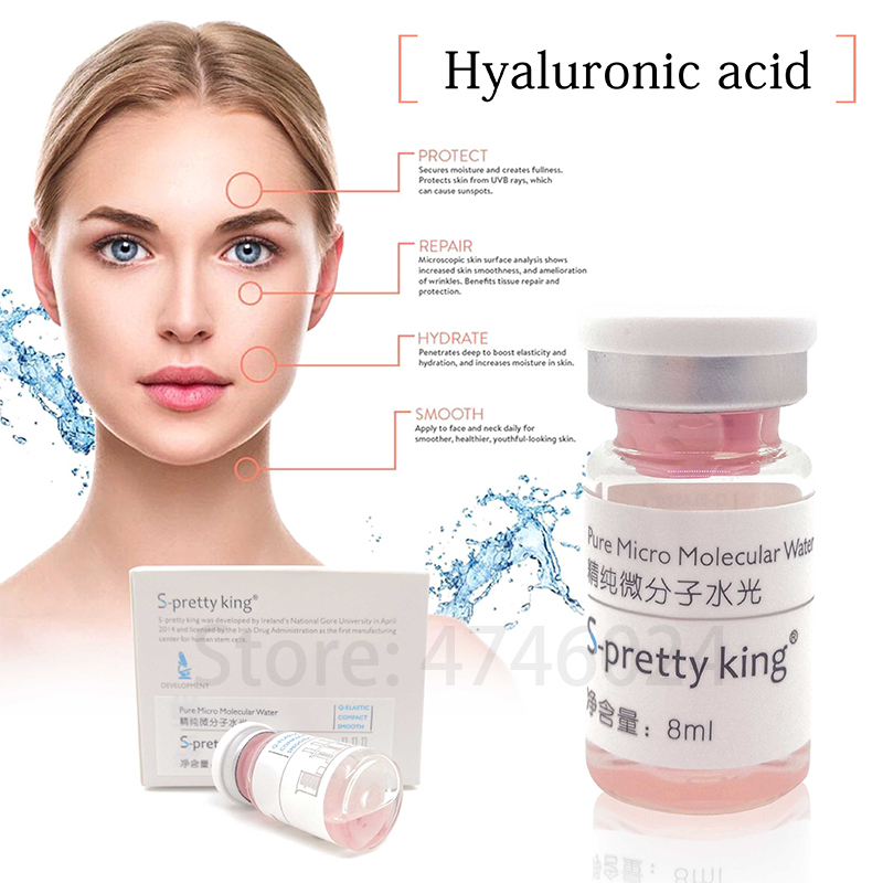Pure Micro Molecular Hyaluronic Acid Injection For Face Whitening Anti-acne Lip Filler For Hyaluronic Pen Atomizer Injection Gun