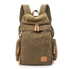 Mochila para ordenador portátil de gran capacidad para hombres Vintage, mochila de lona lavada, mochila informal Retro para hombres, mochilas escolares para adolescentes
