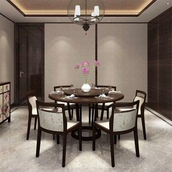 7 piezas de muebles para el hogar mesa de comedor 6 sillas de madera ...