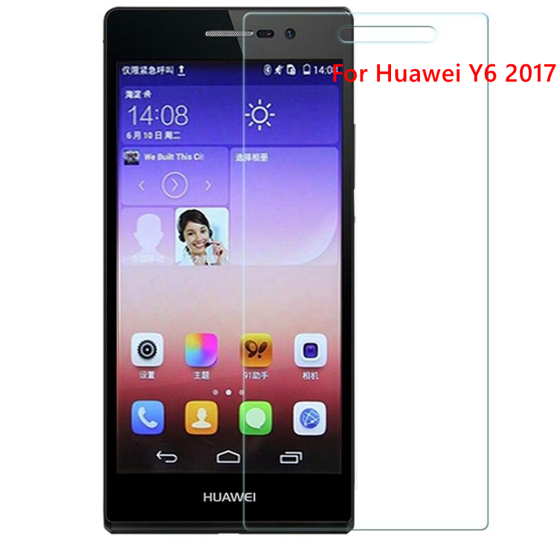 0.3mm 9H Premium Tempered Glass For Huawei Y6 2017 Screen Protector Film Case For huaewi phone ...