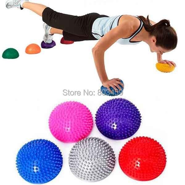 Yoga pelota masaje media bola de estabilidad gimnasia ejercicio Yoga   Gym  Fitness Pilates bola bola bb125a966002