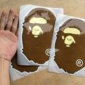 100 шт./лот APE bape купание наклейки большой размер 14*21 см багажа fridg стекла ПВХ водонепроницаемый APE наклейки бесплатная доставка