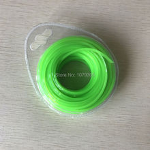 2.4mm*15Meters square Green Color Trimmer Line Brush Cutter  Line