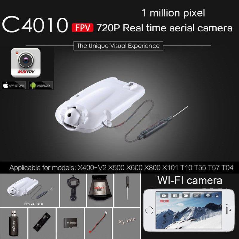 ФОТО mjx c4010 fpv 720p hd real time aerial wifi camera for x400-v2 x600 x800 x101 rc
