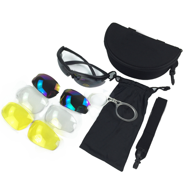 e42a99dfe01 Tactical C3 Goggles Polycarbonate Desert Outdoor Sports Glasses 4 Lenses  Eyewear Cycling Riding Eye Protection Goggles