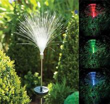 Colorful LED Changing Fibre Optic Fountain Night Light Lamp Claming Home Garden Decor