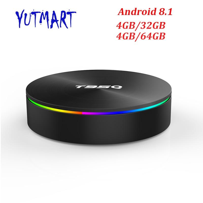 T95Q Smart TV Box Android 8.1 4 gb 32 gb/64 gb Amlogic S905X2 Set Top BOX 2.4g 5g Double WIFI USB 3.0 HDR H.265 4 k Media Player Boîte